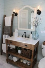 Inspiring Rustic Small Bathroom Wood Decor Design 10