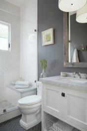 Inspiring Rustic Small Bathroom Wood Decor Design 22
