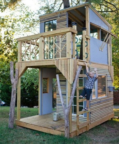 Inspiring Simple Diy Treehouse Kids Play Ideas 06