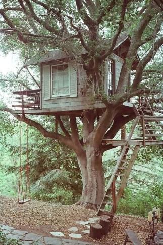 Inspiring Simple Diy Treehouse Kids Play Ideas 07