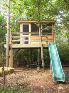 Inspiring Simple Diy Treehouse Kids Play Ideas 23
