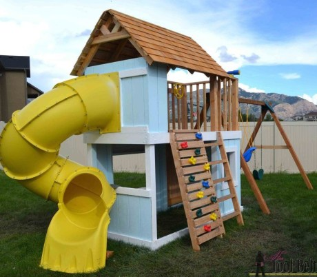 Inspiring Simple Diy Treehouse Kids Play Ideas 24