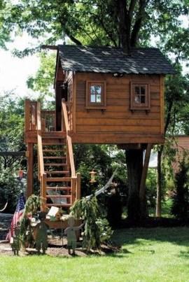 Inspiring Simple Diy Treehouse Kids Play Ideas 25