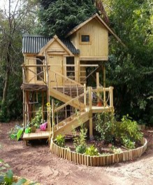 Inspiring Simple Diy Treehouse Kids Play Ideas 30
