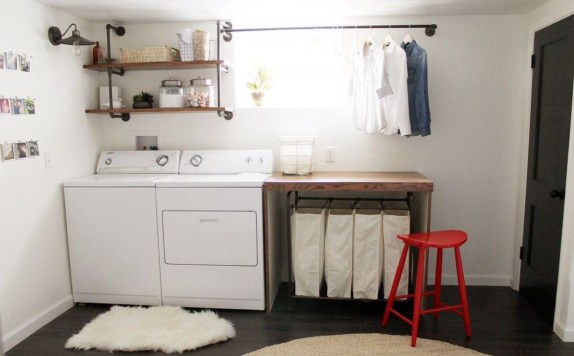 Modern Basement Remodel Laundry Room Ideas 15