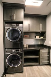 Modern Basement Remodel Laundry Room Ideas 21