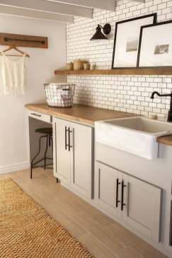 Modern Basement Remodel Laundry Room Ideas 23