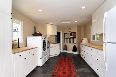 Modern Basement Remodel Laundry Room Ideas 34