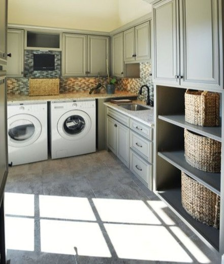 Modern Basement Remodel Laundry Room Ideas 35
