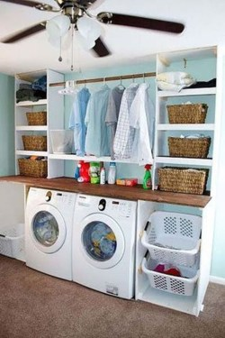Modern Basement Remodel Laundry Room Ideas 37