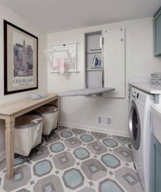 Modern Basement Remodel Laundry Room Ideas 39