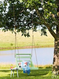 Modern Hanging Swing Chair Stand Indoor Decor 25