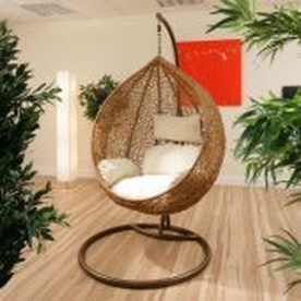 Modern Hanging Swing Chair Stand Indoor Decor 31