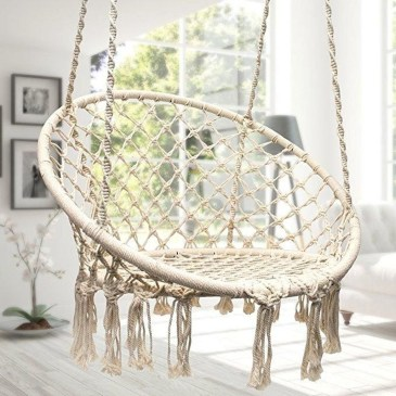 Modern Hanging Swing Chair Stand Indoor Decor 36