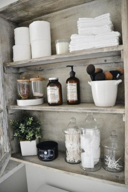 Rustic Country Bathroom Shelves Ideas Must Try 03