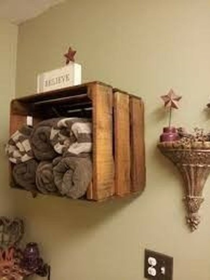 Rustic Country Bathroom Shelves Ideas Must Try 14