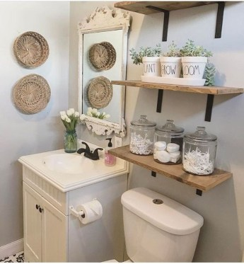 Rustic Country Bathroom Shelves Ideas Must Try 23