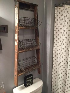 Rustic Country Bathroom Shelves Ideas Must Try 24