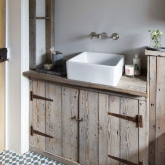 Rustic Country Bathroom Shelves Ideas Must Try 29