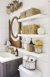 Rustic Country Bathroom Shelves Ideas Must Try 40