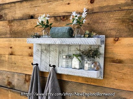 Rustic Country Bathroom Shelves Ideas Must Try 41