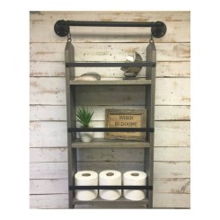 Rustic Country Bathroom Shelves Ideas Must Try 43