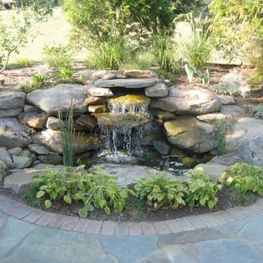 41 Awesome Small Waterfall Pond Landscaping Ideas Backyard ... on Small Backyard Pond Ideas id=72506