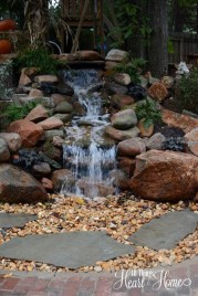 Awesome Small Waterfall Pond Landscaping Ideas Backyard28