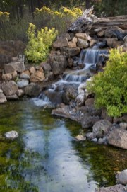 Awesome Small Waterfall Pond Landscaping Ideas Backyard38
