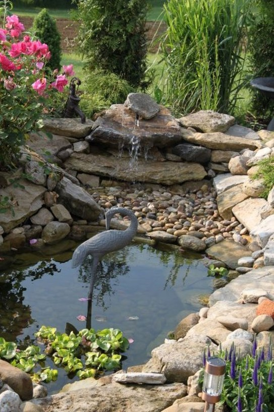 Awesome Small Waterfall Pond Landscaping Ideas Backyard41