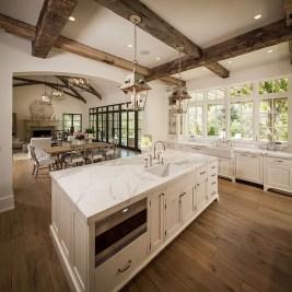 Inspiring Rustic Wooden Floor Living Room Design02