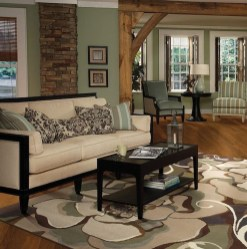 Inspiring Rustic Wooden Floor Living Room Design38