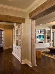 Inspiring Rustic Wooden Floor Living Room Design40