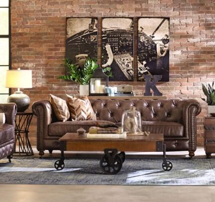 Ispiring Rustic Elegant Exposed Brick Wall Ideas Living Room02