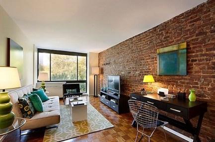 Ispiring Rustic Elegant Exposed Brick Wall Ideas Living Room03