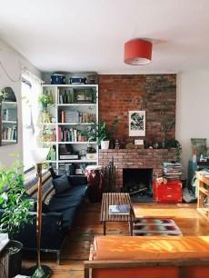 Ispiring Rustic Elegant Exposed Brick Wall Ideas Living Room09