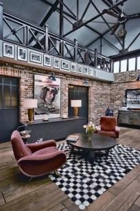 Ispiring Rustic Elegant Exposed Brick Wall Ideas Living Room12
