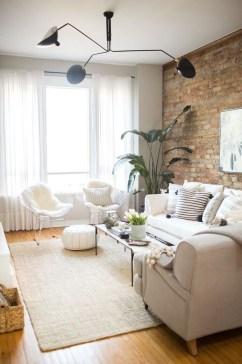Ispiring Rustic Elegant Exposed Brick Wall Ideas Living Room14
