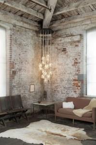 Ispiring Rustic Elegant Exposed Brick Wall Ideas Living Room19