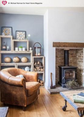 Ispiring Rustic Elegant Exposed Brick Wall Ideas Living Room25