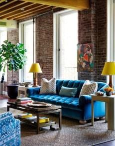 Ispiring Rustic Elegant Exposed Brick Wall Ideas Living Room27