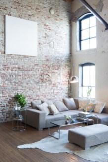 Ispiring Rustic Elegant Exposed Brick Wall Ideas Living Room35