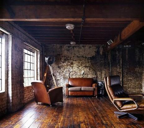 Ispiring Rustic Elegant Exposed Brick Wall Ideas Living Room42