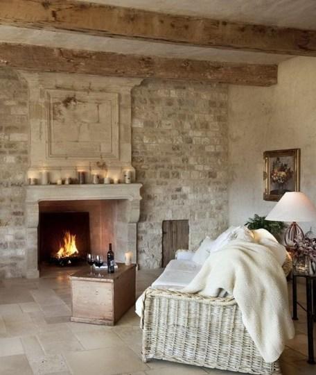 Ispiring Rustic Elegant Exposed Brick Wall Ideas Living Room44