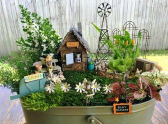 Stunning Fairy Garden Miniatures Project Ideas06