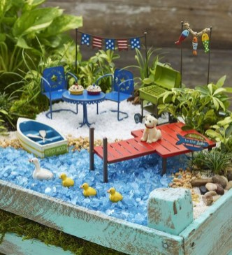 Stunning Fairy Garden Miniatures Project Ideas28