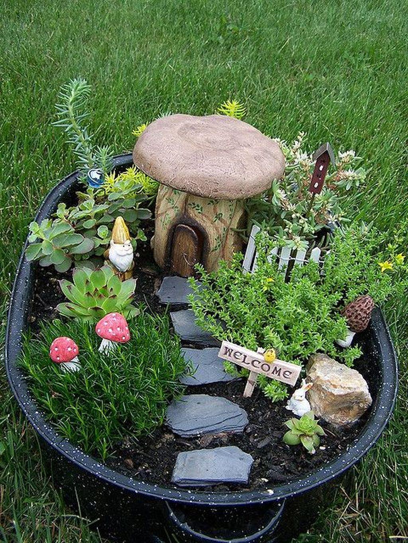 Stunning Fairy Garden Miniatures Project Ideas31