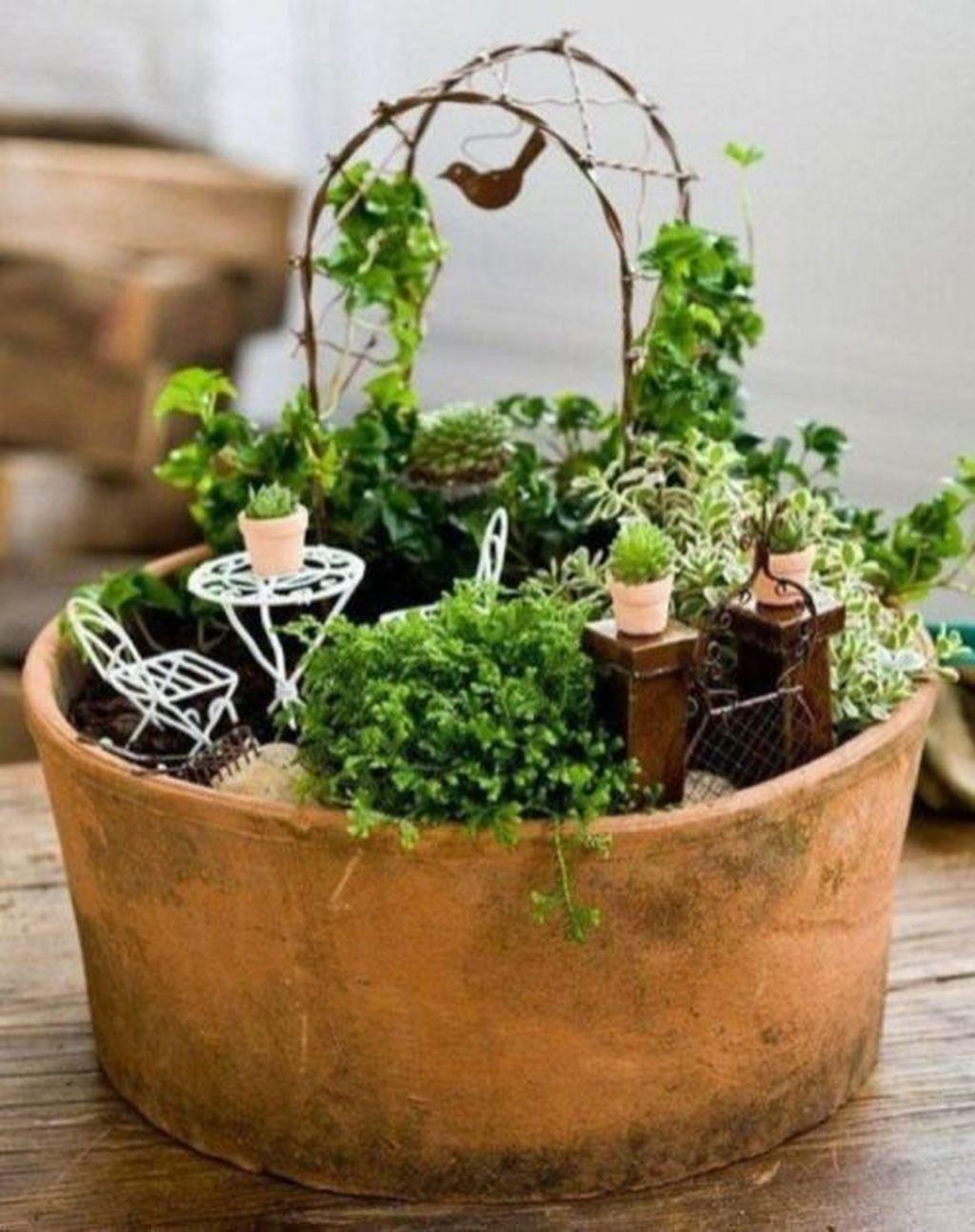 Stunning Fairy Garden Miniatures Project Ideas34