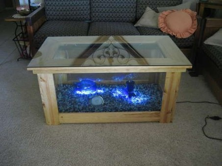 Amazing Aquarium Feature Coffee Table Design Ideas02