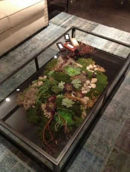 Amazing Aquarium Feature Coffee Table Design Ideas06